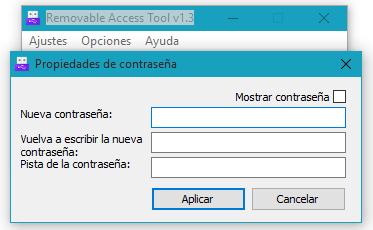 Contraseña Removable Access Tool
