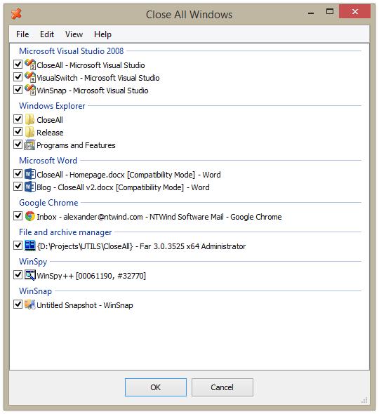 CloseAll para Windows