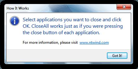 Funcionamiento de CloseAll