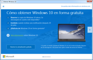 Reservar copia a Windows 10