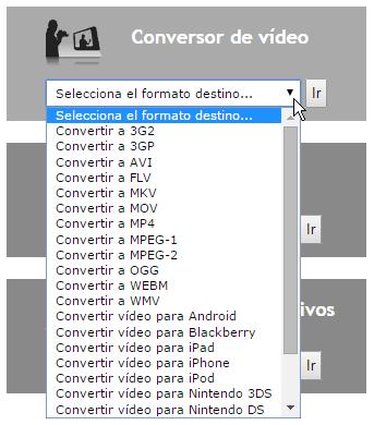 Conversor de vídeo online