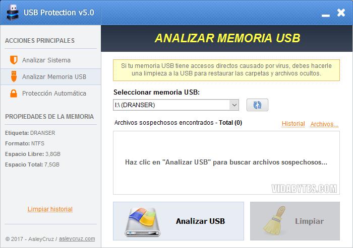 Analizar Memoria USB