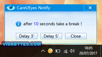 CareUEyes Notificación