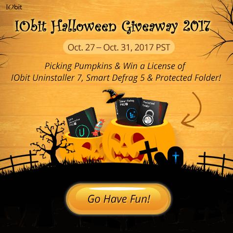 IObit Halloween Giveaway 2017