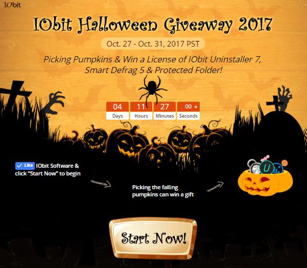 Iniciar IObit Halloween Giveaway 2017