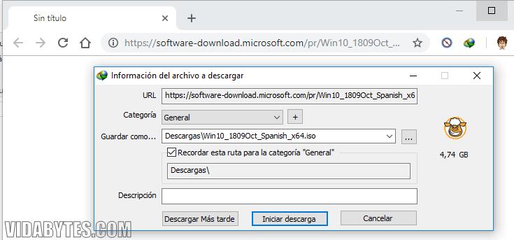 Descargar ISO Windows 10 Microsoft