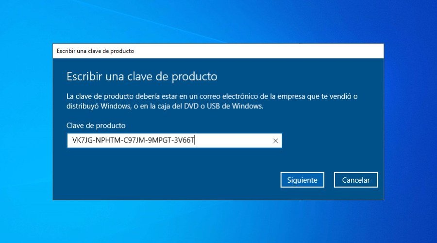 Cómo activar Windows 10