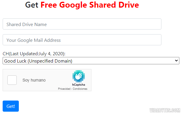 Get Free Google TeamDrive